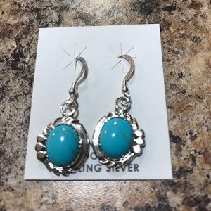 Jewelry - Navajo Silver Turquoise Earrings